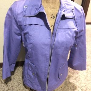 Jackets & Blazers - Purple Zip Up Jacket